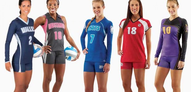 volleyball players in uniforms